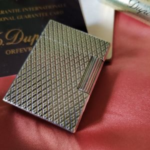 Vintage Dupont ασημένιος αναπτήρας..