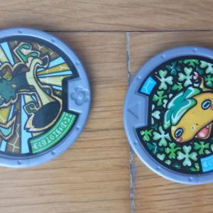 2 μετάλλια yo kai watch