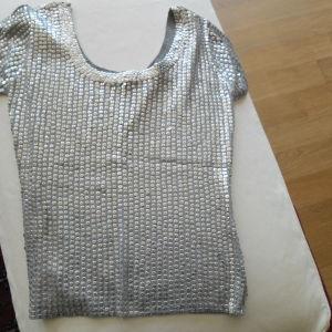 Ασημένια μπλούζα XL