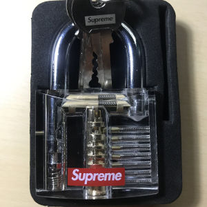 supreme transparent pad lock