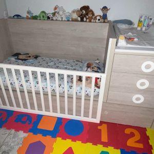 Κούνια πολυμορφική . Μετατρέπεται σε δυο μόνα κρεβάτια , γραφείο , συρταριέρα και κομοδίνο.