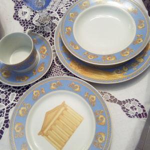 Limoges Royal, σερβίτσιο φαγητού και καφέ έξι ατόμων, 30 τεμάχια.