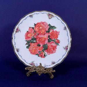 """Διακοσμητικο πιάτο Royal Albert """"Elizabeth of Glamis"""" bone china England 1990"""