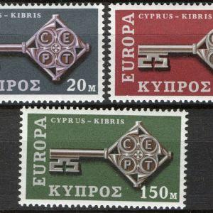 CYPRUS -  1968 -  EUROPA CEPT - SET OF 3 -  MNH