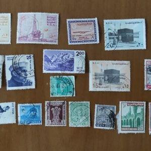 Γραμματόσημα Συλλεκτικά από Σαουδική Αραβία Φιλιππίνες Ινδία 24 τεμάχια Άριστη Κατάσταση