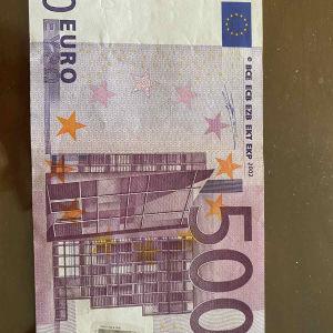 Συλλεκτικό χαρτονόμισμα των 500 ευρώ.