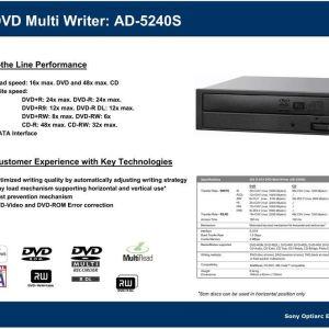 OPTIARC AD-5240S DVD-RW CD-RW BLACK μαύρο