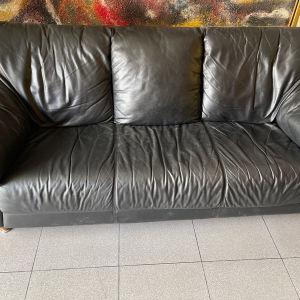 καναπές 3θεσιος δερμάτινο