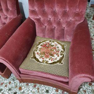 Σετ αντικε  καναπές+πολυθρόνες+καρεκλες
