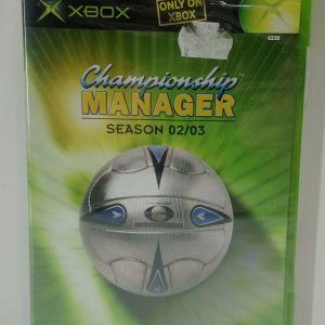 CHAMPIONSHIP MANAGER SEASON 02/03 XBOX VIDEO GAME EUROPEAN PAL NEW
