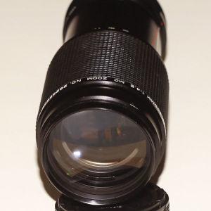 Φακός Vivitar, με μοντούρα Canon FD, zoom 80 - 200mm F/ 4,5 - 32, Multi coated