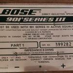 2 ηχεία BOSE 901 series III