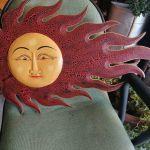 Ξυλόγλυπτος χειροποίητος ήλιος