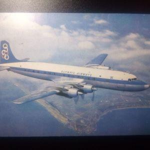 OLYMPIC AIRWAIS SUPER DC - 6 B TΑΧΥΔΡΟΜΗΜΕΝΗ ΤΟ 1960 ΑΠΟ ΑΓΓΛΙΑ