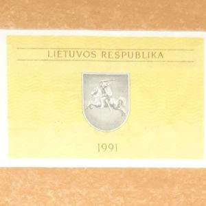 UNC 0,5 Talonas 1991 , Lithuania