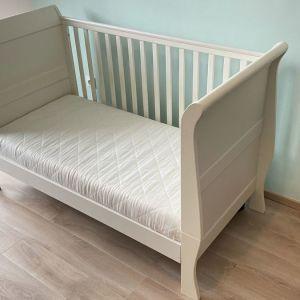 Κρεβάτι Mamas & Papas Μia Sleigh White
