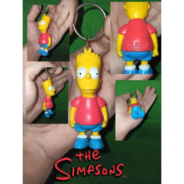 The Simpsons Bart Figure Keychain RARE 1990 figoura Collectible mprelok