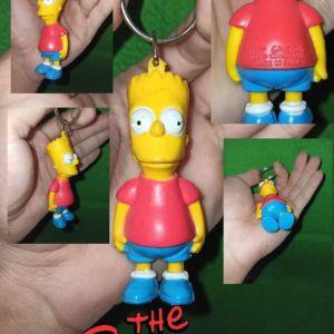 The Simpsons Bart Figure Keychain RARE 1990 Φιγούρα Collectible Μπρελόκ