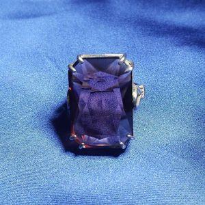 Ασημένιο δακτυλίδι με πέτρα Swarovski