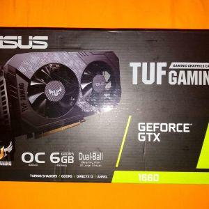 ASUS TUF GTX1660 gaming graphic card 6GB + κατι λιγοτερο απο 3 χρονια εγγυηση