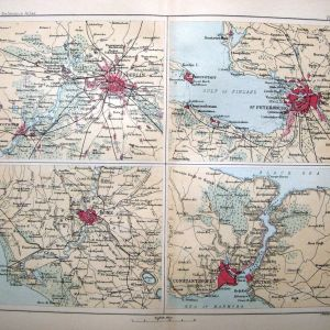 Bartholomew 1860 Χάρτες Βερολίνου, Αγ. Πετρούπολης, Ρώμης, Κωνσταντινούπολης