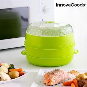 Διπλός Aτμομάγειρας Για Φούρνο Μικροκυμάτων Fresh InnovaGoods