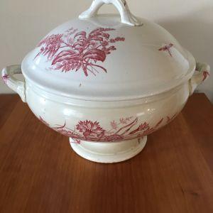 Αυθεντική συλλεκτική vintage πορσελάνινη σουπιέρα Βασιλικού Οίκου Βελγίου