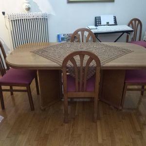 Τραπεζαρία σαλονιού με 6 καρέκλες