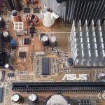 Πλήρες Motherboard ASUS P5VD2VM με επεξεργαστή-P4-650-3.4GHz με Ψύκτρα, & RAM-3GB
