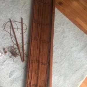Ξύλινο στόρι καφέ σκούρο 1,40x2,50