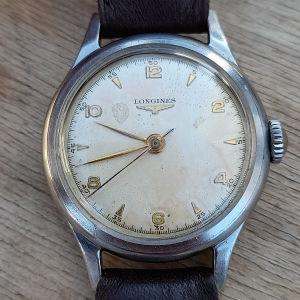 παλιό κουρδιστό ανδρικό ρολόι LONGINES λειτουργικό..1830.