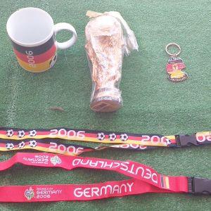 ΓΕΡΜΑΝΙΑ 2006, έξι συλλεκτικά αυθεντικά αντικείμενα αγορασμένα από την Στουτγάρδη, από το Μουντιάλ της γερμανίας το 2006