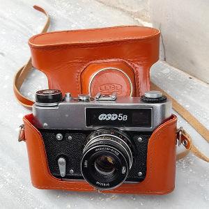 παλιά φωτογραφική μηχανή ФЕД 5В λειτουργικοί σε άριστη κατάσταση