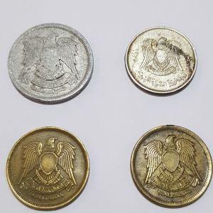 Τέσσερα νομίσματα από Λιβυή