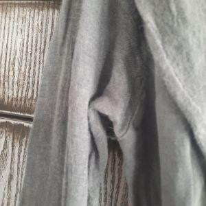 Γκρί χειμωνιάτικο Boho φόρεμα