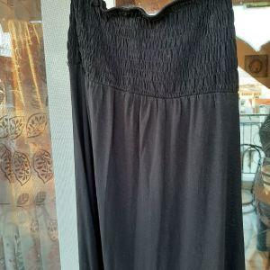 μαύρο μακρυ φόρεμα ελαστικο