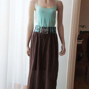Ολοκαίνουρια υπέροχη φούστα σε φαρδιά μπάσκα κεντημένη με πούλιες