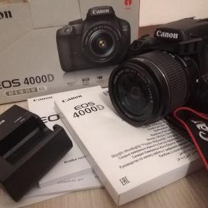 Canon Eos 4000D και lens kit 18-55 mm