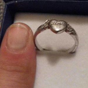 Δαχτυλίδι ασημένιο με καρδιά και ζιργκόν