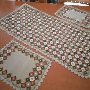 εργόχειρο  σεμεν με 2 πετσετακια, 3 τεμάχια