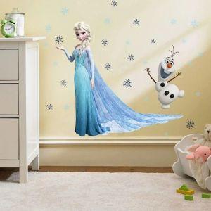 ΑΥΤΟΚΟΛΛΗΤΗ ΕΤΙΚΕΤΑ Έλσα Frozen Παγωμένος ΤΟΙΧΟΣ ΑΥΤΟΚΟΛΛΗΤΗΣ το δωμάτιο κορίτσια Disney ΦΤΗΝΟΣ 60×45 εκ