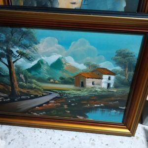 Πίνακας ζωγραφικής λάδι 75φ*60υ.Δυν.Μεταφορας