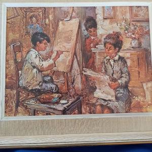 πίνακας ζωγραφικής Ιταλού Ζωγράφου δεκαετίας 60-70