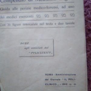 Εγχειρίδιο ιατροδικαστικής - Compendio di Medicina Legale, 1912