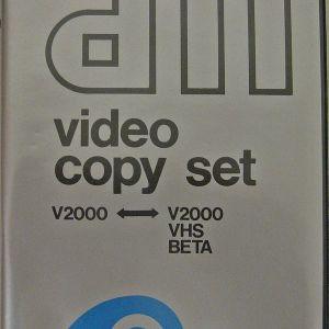 VIDEO COPY SET V2000 <--> V2000/VHS/BETA