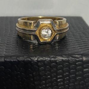 Δαχτυλίδι με διαμάντι χρυσός 14Κ