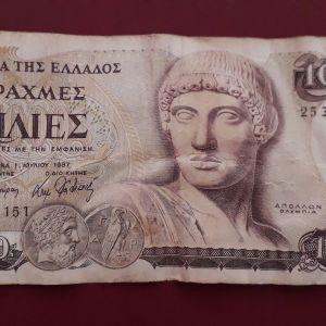 Χαρτονόμισμα 1000 δραχμών. Έτος έκδοσης 1987.