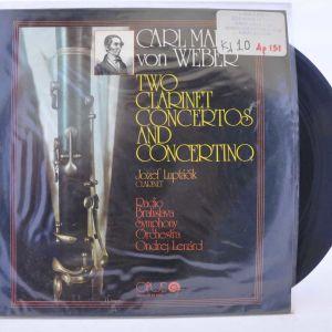 Vinyl LP - Carl Maria Von Weber - Two Clarinet Concertos And Concertino