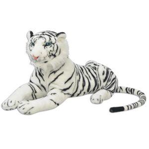 vidaXL Παιχνίδι Τίγρης Λευκό XXL Λούτρινο-80164