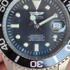 invicta pro diver titanium automatic seiko movement